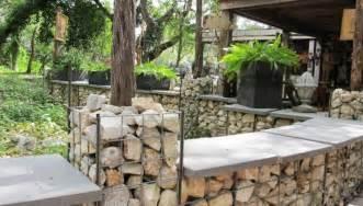 mur en gabion et applications du gabionnage dans le jardin