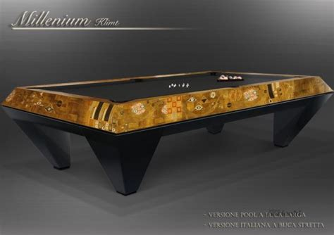 millenium klimt extra luxury pool table by cavicchi