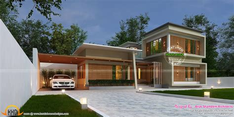 1st floor veranda design 3420 sq ft true contemporary home kerala home design
