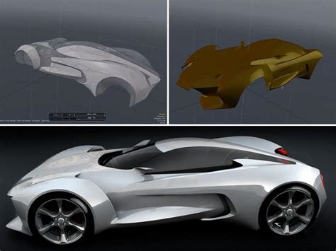 zbrush tutorial car concept car 3d resurfacing with modo and zbrush car body