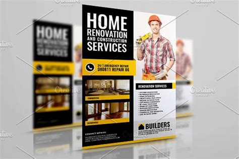 32 Construction Flyer Templates Free Word Psd Designs Home Improvement Flyer Template