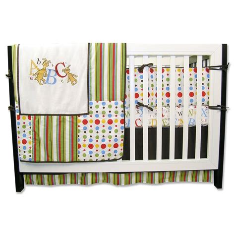 dr seuss nursery bedding dr seuss abc 4 piece crib bedding set