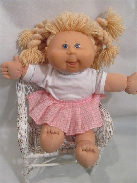 pics of cabbage patch dolls hairstyles 18 quot blond braids play along cabbage patch doll pa 5