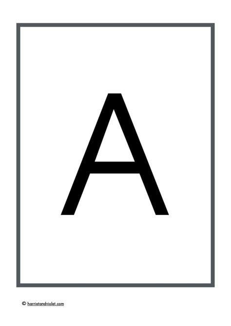 large plain alphabet capital letters teaching