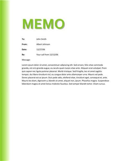 template of a memo memo template sles and templates