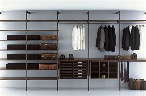 modular closet systems that expose the wall surfaces