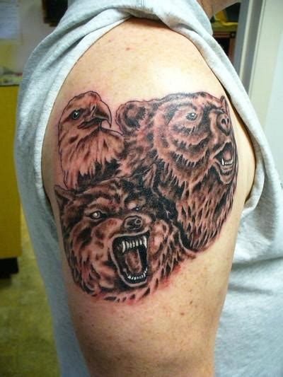 bear and wolf tattoo designs tattoos