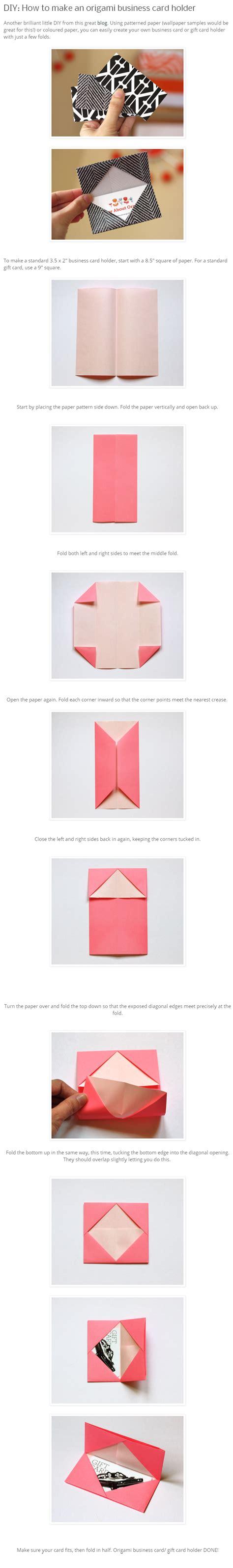Origami Business Card - diy origami business card holder my style