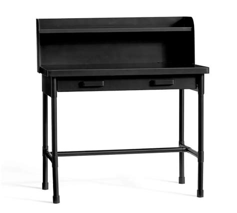 metal desk with hutch metal desk with hutch pottery barn