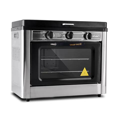 Oven Gas Portable Hock portable gas oven and stove in silver and black buy c