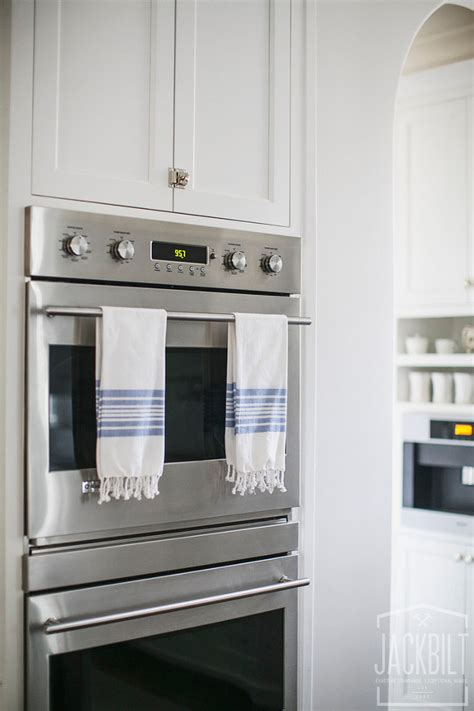 double oven kitchen cabinet white and gray kitchen designed by jackbilt homes home