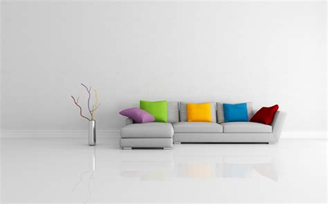 Modern Sofa Colorful Pillows Wallpapers 1680x1050 269209
