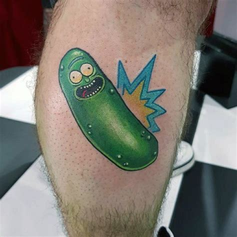 pickle tattoo 50 pickle rick ideas for rick and morty designs