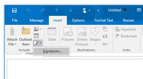 how to create an email signature in outlook 2016 and prior
