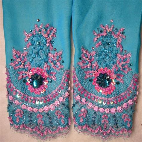Dress Manik Manik korean style turquoise blue chiffon dress with pink