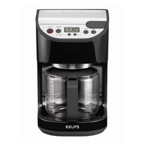 krups coffee maker krups precision glass carafe coffee maker 12 cup cutleryandmore