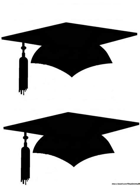 graduation hat template best printable graduation cap pattern vector drawing
