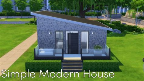 mod the sims simple modern house no cc by malwa1216