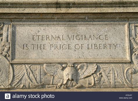 price of engraving eternal vigilance is the price of liberty engraving on
