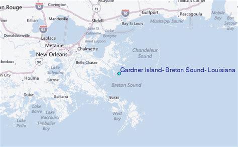 louisiana islands map gardner island breton sound louisiana tide station