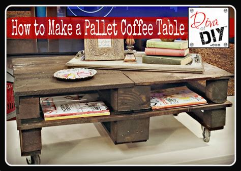 How To Make A Pallet Coffee Table how to make a pallet coffee table