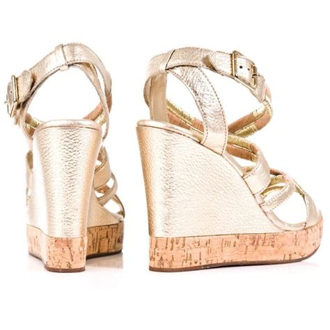 Sandal Wanita Couture Wedges couture gold s dapper wedge sandal