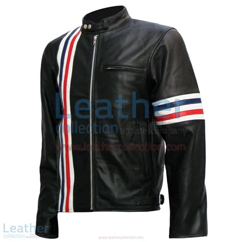 Easy Rider Black by Easy Rider Leather Jacket Captain America Biker Black