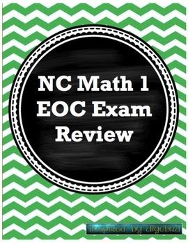 north carolina eoc math 1 test review by inspired by