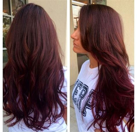pinterest rich violets reds browns long hair warm brown with ombr 233 with red violet beauty pinterest