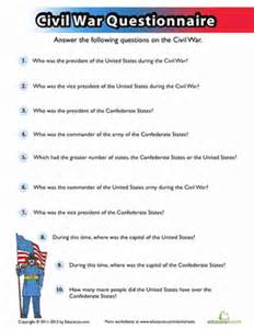 civil war quiz | worksheet | education.com
