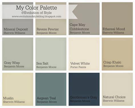 whole house paint color palette