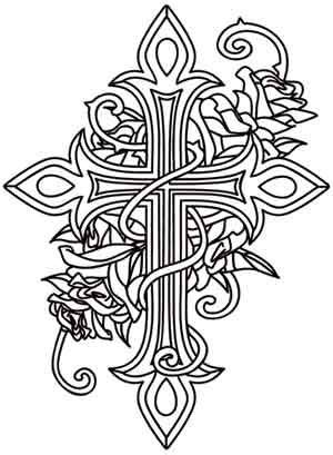 coloring pages of crosses with roses crosses roses quotes adult coloring pages printable