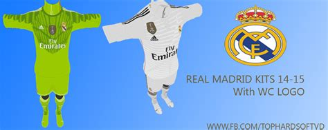 Diskon Patch Fifa Wcc Real Madrid 2014 Pes 2013 Real Madrid 14 15 Kits With Wc Logo Pes Patch