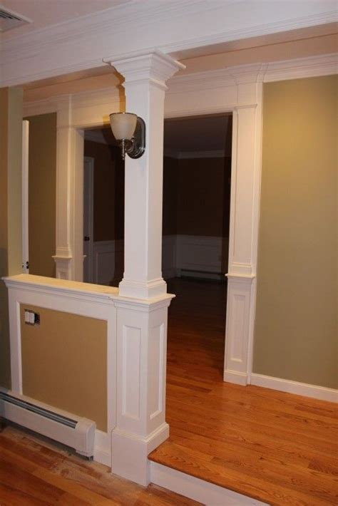 half wall with columns half wall column for the home