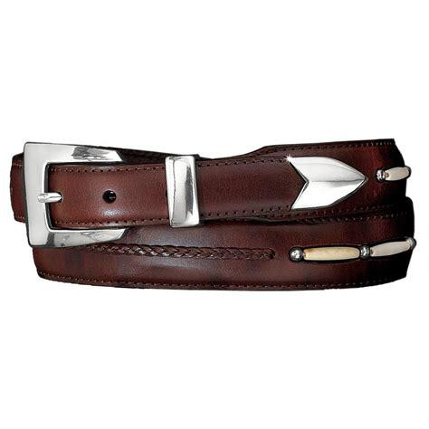 s brighton toronto taper leather belt brown 10707