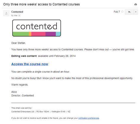 email ending send reminder emails firmwater lms