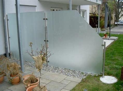 Sichtschutz Glas Gartenelemente