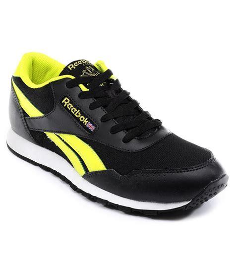 n sport shoes reebok black sport shoes price in india buy reebok black