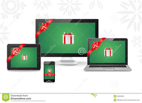 electronic christmas gifts stock photography image 28020222
