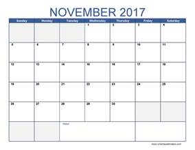 Calendars That Work November 2017 November 2017 Calendar Weekly Calendar Template