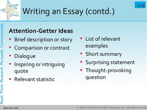 College Application Essay Attention Getter Quotes About Attention Getters 55 Quotes