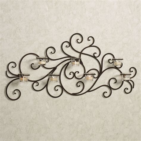 morganica wrought iron tealight wall