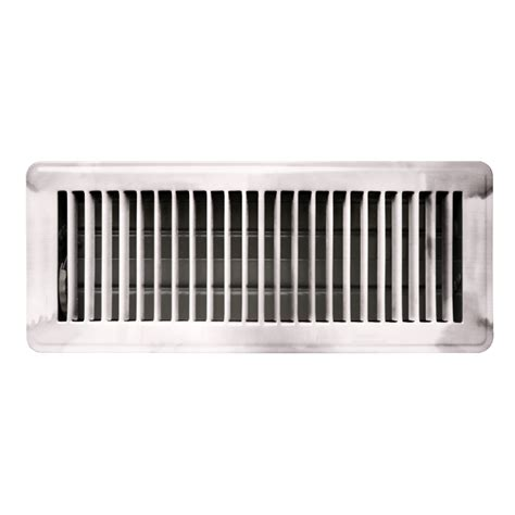 10 In X 30 In Floor Register by Accord 10 X 30cm Chrome Louvered Floor Register Bunnings