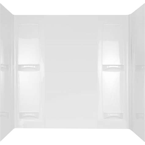 one piece bathtub wall surround pro series 32 in x 60 in x 57 in 5 piece easy up