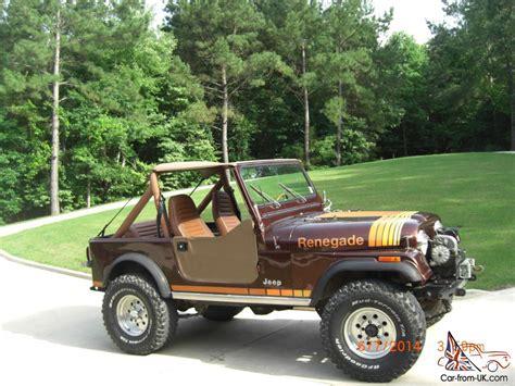 renegade jeep cj7 1984 jeep cj7 renegade w factory ac