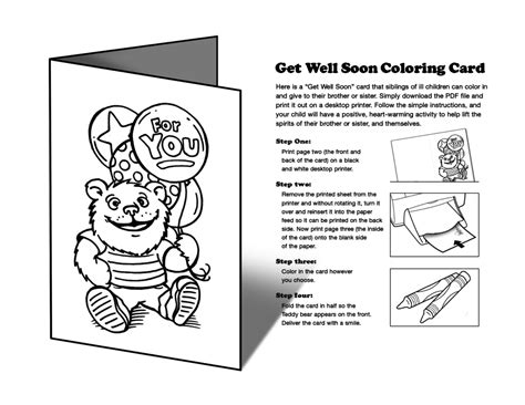 get templates for pages get well cards pages coloring pages