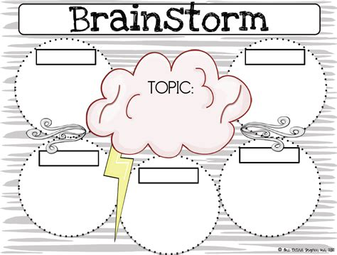 brainstorming chart template one degree brainstorming graphic organizer writing