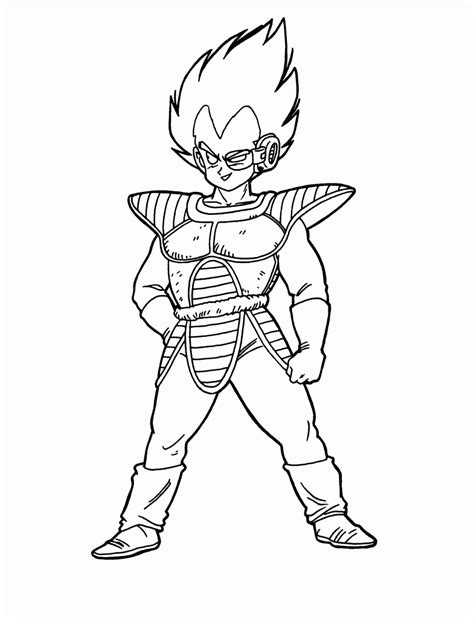Galerry dragon ball coloring page