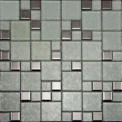crystal glass tiles brushed patterns bathroom wall tile plated mosaic porcelain tile flooring in