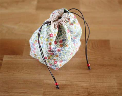 Drawstring Lunch Box Bag lunch box bag diy tutorial ideas